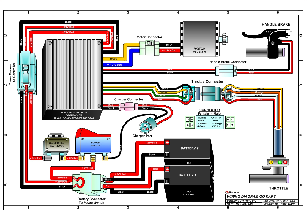 razor e100 wiring diagram battery charger wiring diagram