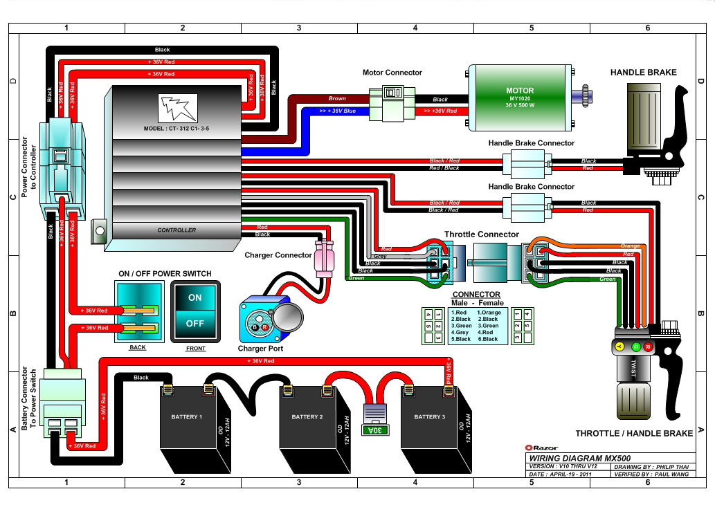 a02 razor electric scooter wiring diagram razor mx500 dirt rocket electric dirt bike parts ... razor e100 electric scooter wiring schematic diagram #14