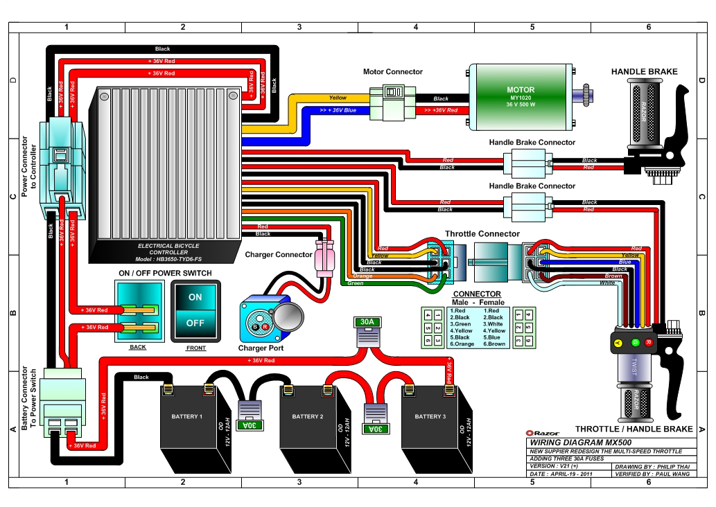 Wiring Diagram For Electric Razor Scooter : Parts diagram moreover microwave oven wiring further