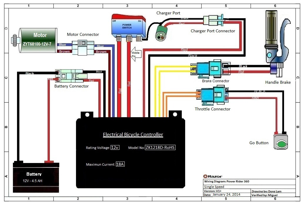 Razor Powerrider 360 Parts