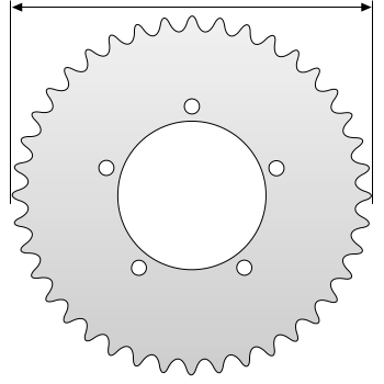 sprocket outside diameter