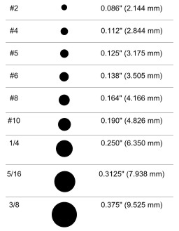 crimp sleeve size chart
