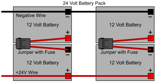Battery Pack Wiring Direction - ElectricScooterParts.com | Battery Pack Wiring Diagram |  | Electric Scooter Parts