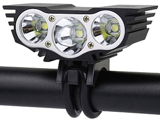 2500 lumen 3 led ultra-bright rechargeable headlight for trx� personal  transporter electric scooter super bright 2500 lumen rechargeable led  headlight set