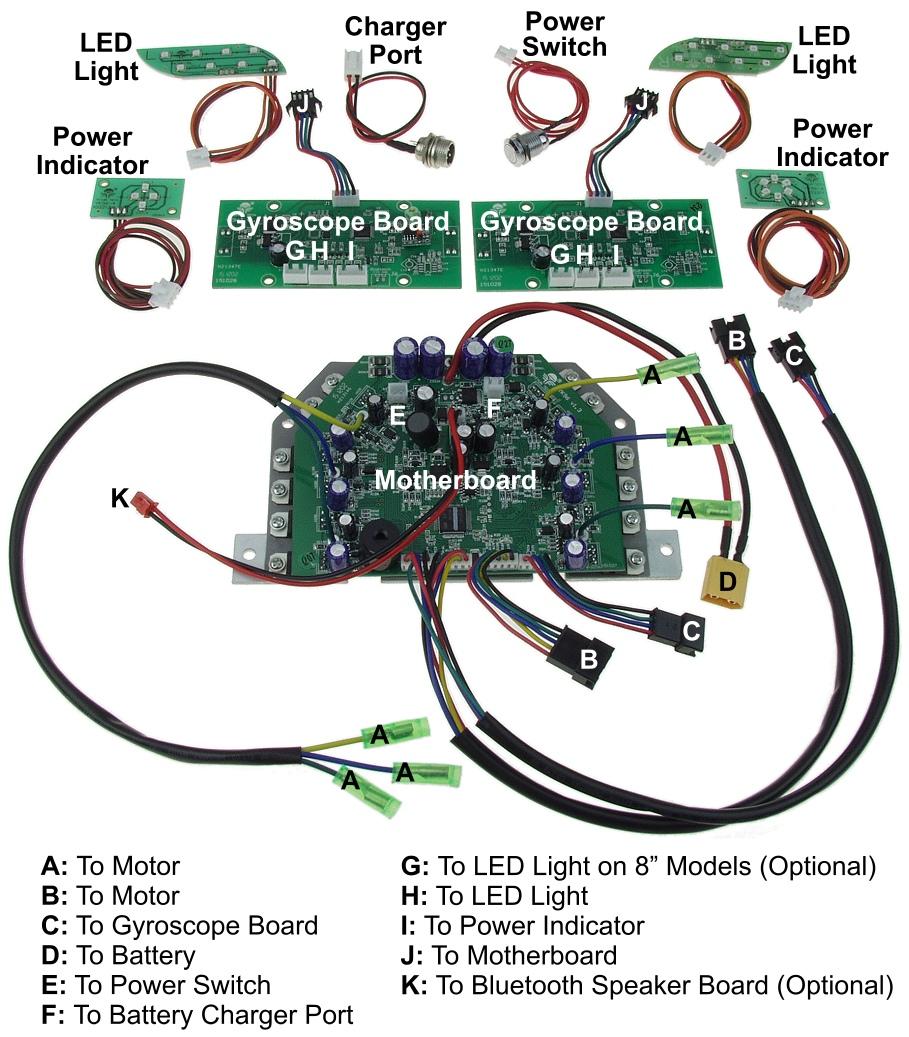 Self Balancing Scooter Parts Balance Circuit Repair Kit Board Main Hover Replacement Item Sbs Controller