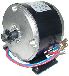 Electric motor for the TrueSpeed® Power Rider DL 250, SL 250, and XL 250 electric scooter. 2500 RPM.