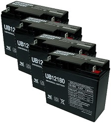 Set Of Four 4 12 Volt 18ah Batteries For The Baja Be500 Electric Scooter Includes Month Battery Replacement Warranty