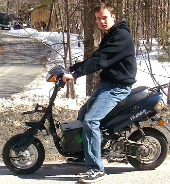 For my Senior project in high school, I decided to convert a gas-powered moped into an electric moped. It has a top speed of about 23 mph since ...