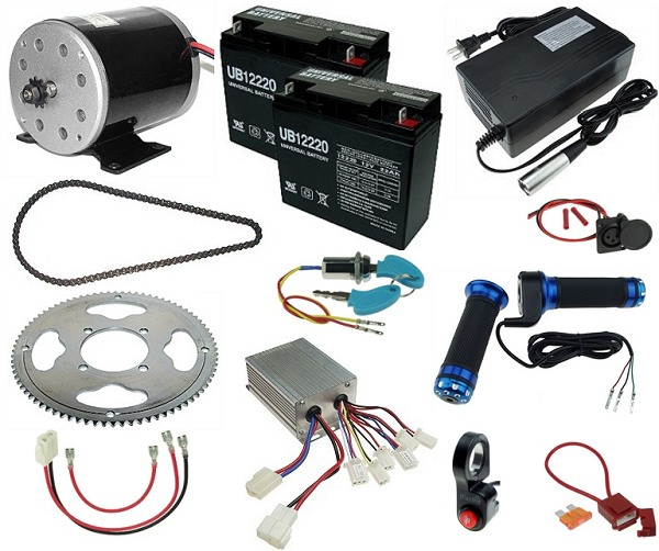 24 Volt 500 Watt Electric Bar Stool Racer Kit Kit 425