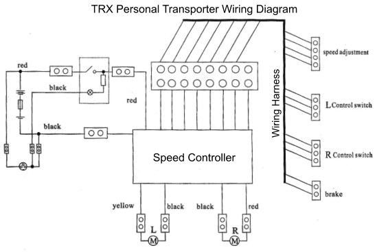 trx® personal transporter electric scooter parts trx® electric scooter wiring diagram
