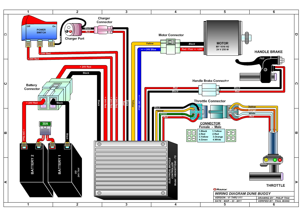 electric scooter wiring diagram free engine schematic wiring wire rh linxglobal co Scooter Cdi Wiring Diagram 24 Volt Scooter Wire Diagram
