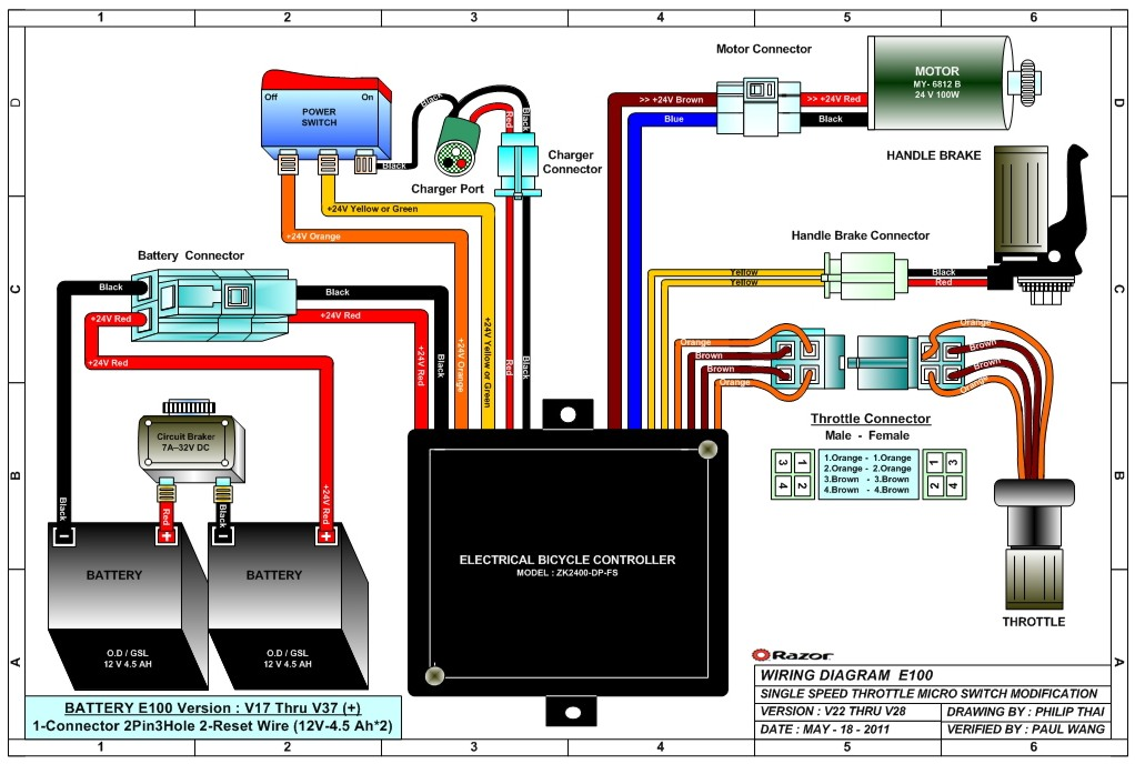 Razore100 on electric bicycle controller schematic