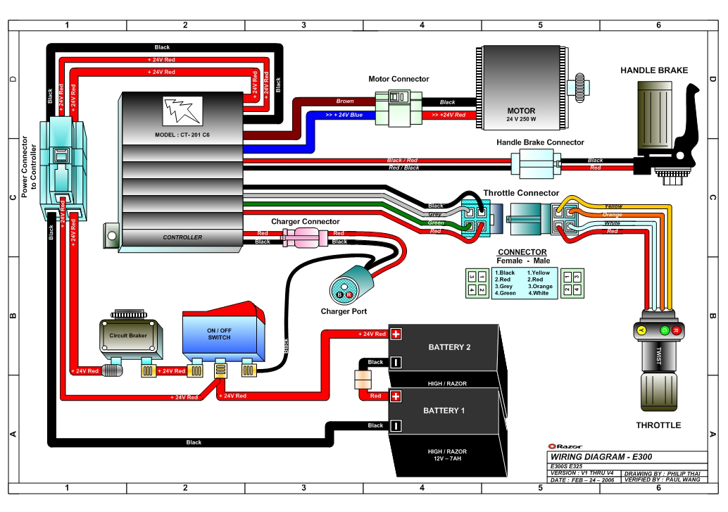 razor-e300-wiring-diagram-v1-4 Quasar Electric Scooter Wiring Diagram on
