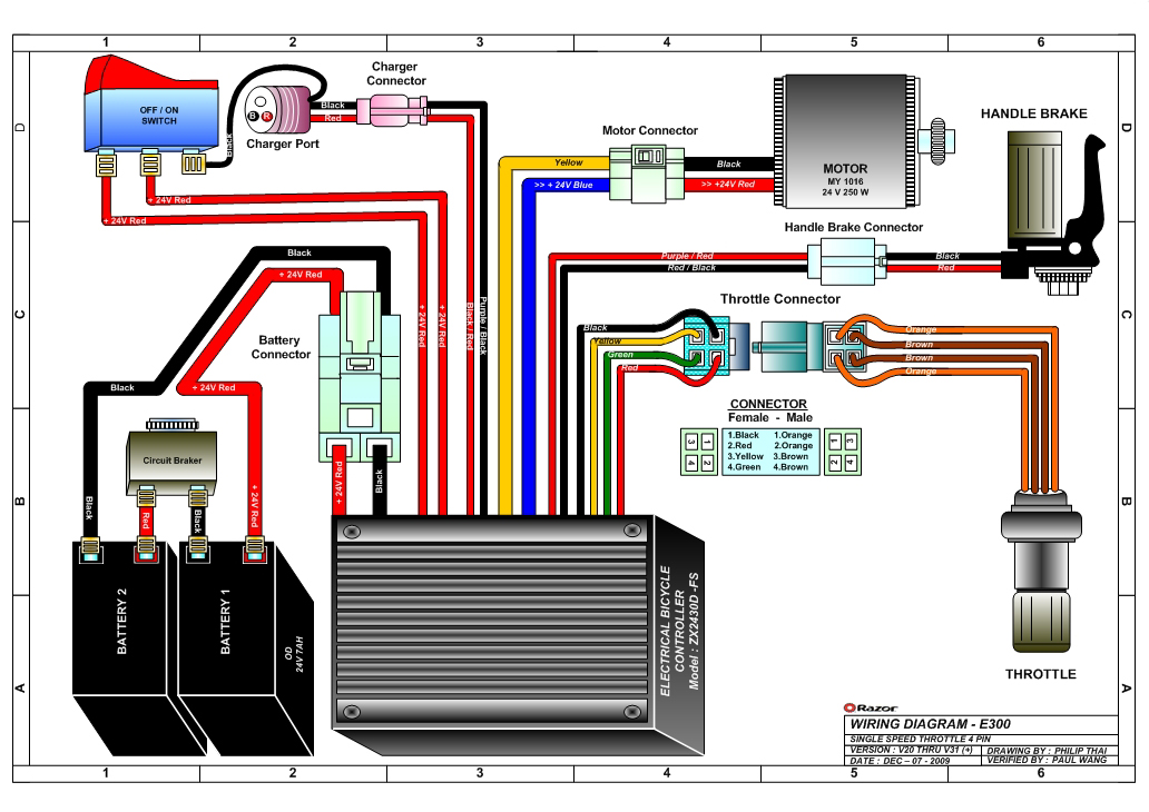 razor e300 wiring diagram v20 razor e300 and e300s electric scooter parts electricscooterparts razor e300 battery wiring harness at bayanpartner.co