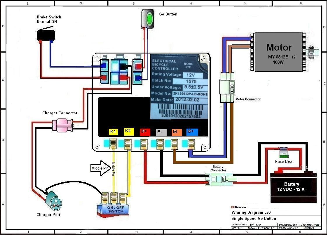 Razor E90 Wiring Diagram Version 1-2