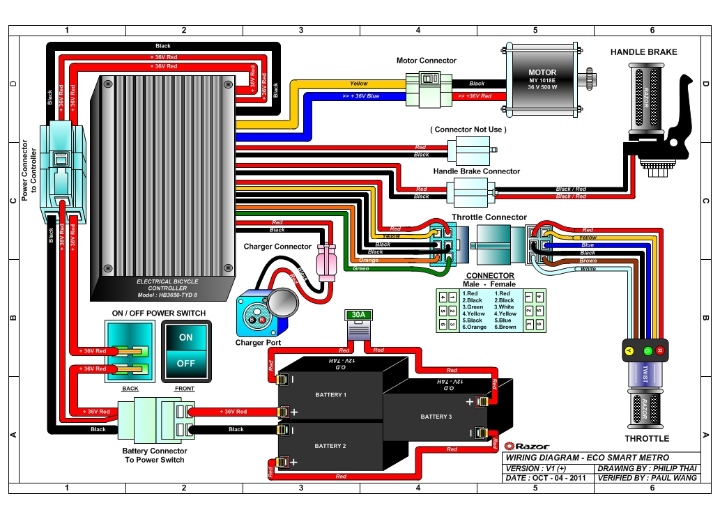 razor eco smart metro wiring diagram razor ecosmart metro electric scooter parts electricscooterparts com schwinn s350 electric scooter wiring diagram at gsmx.co