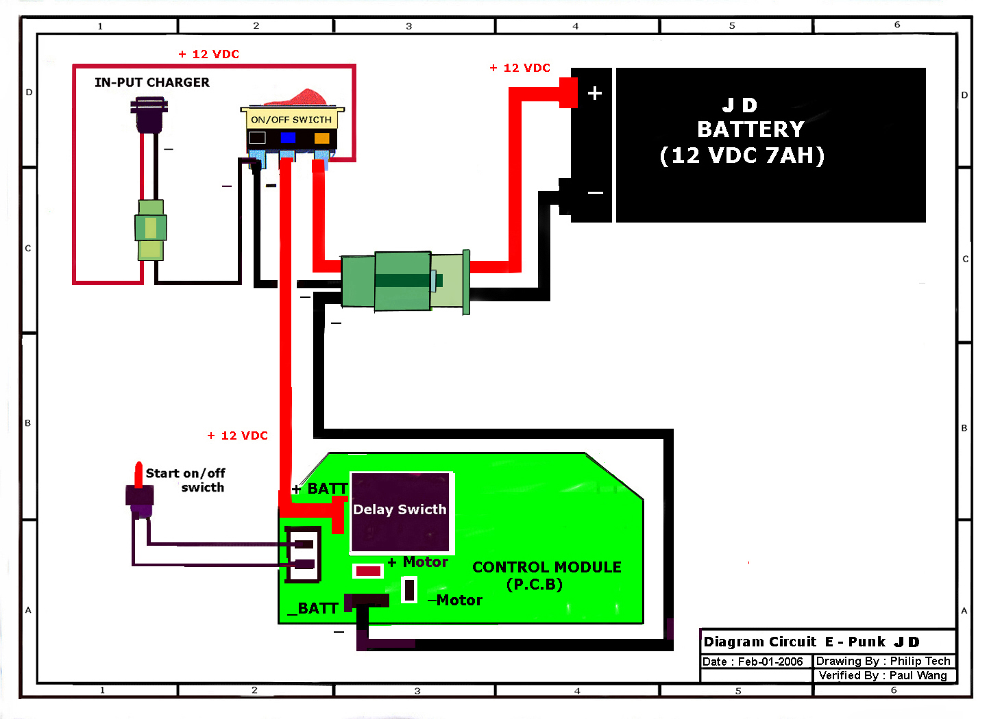 Razor ePunk Wiring Diagram JD Versions