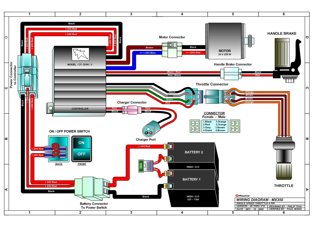 razor mx350 wiring diagram v9 10 razor mx350 dirt rocket electric dirt bike parts Pit Bike Racing Rules at gsmportal.co
