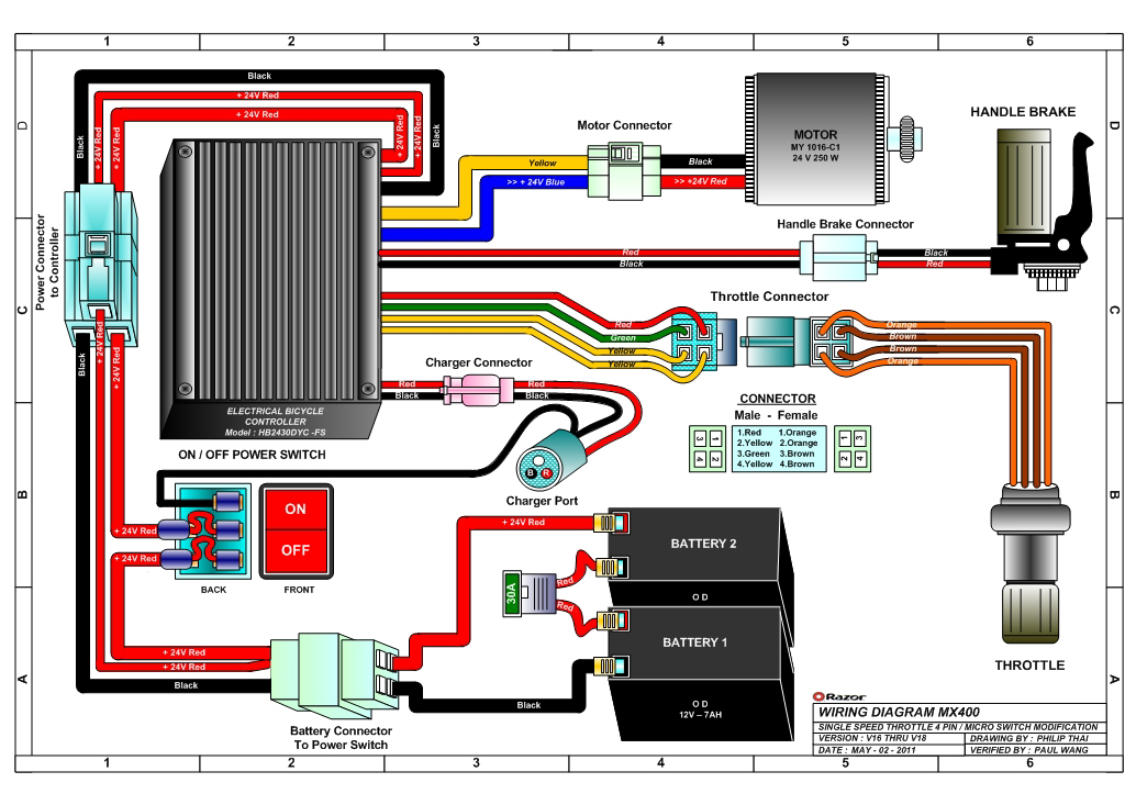 Razor Mx Wiring Diagram V on Gy6 Lighting Diagram