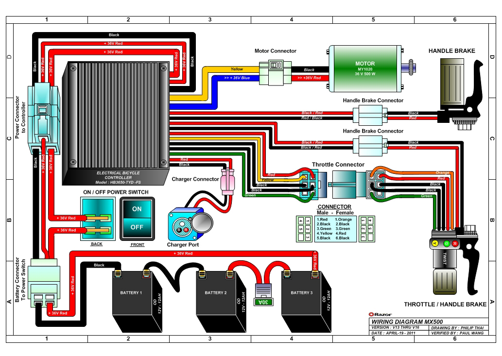 24 Volt Scooter Battery Wiring Diagram Wiring Diagram Data Val