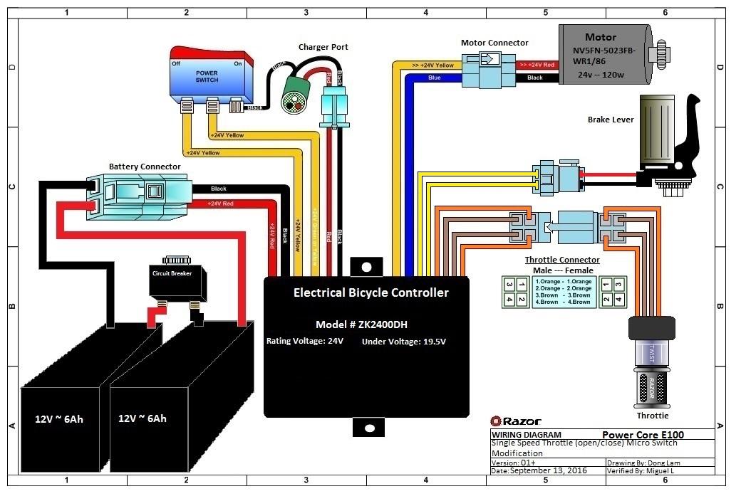 Razor Scooter E300 Wiring Diagram Wikishare